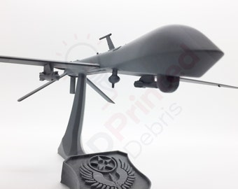 Predator MQ-1 Unmanned Aerial Vehicle (uav, drone, etc) Model with Stand