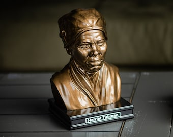 Harriet Tubman 8 inch Premium Solid Bust | Sculpture Art | Activist Gift  | Library | Study | Classroom | Faces of History