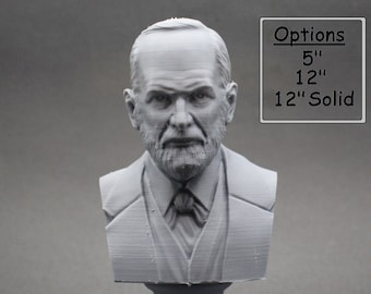 Sigmund Freud Austrian Neurologist and founder of Psychoanalysis 3D Printed Bust