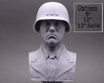 George S. Patton Legendary US Army General 3D Printed Bust