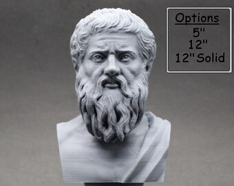 Plato Athenian Philosopher 3D Printed Bust