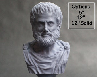 Aristotle Greek Philosopher 3D Printed Bust