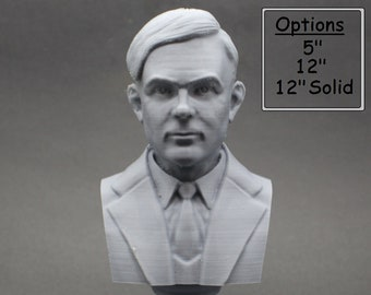 Alan Turing Famous English Mathematician and Computer Scientist 3D Printed Bust