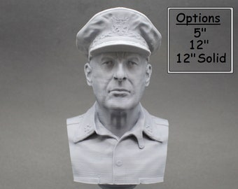 Douglas MacArthur Legendary US Army General 3D Printed Bust