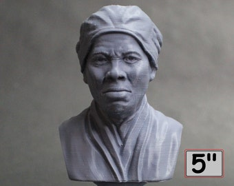 Harriet Tubman American Abolitionist and Political Activist 5 inch 3D Printed Bust