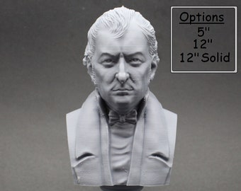 Eli Whitney Famous American Inventor 3D Printed Bust
