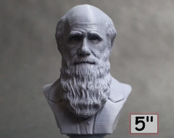 Charles Darwin Famous English Naturalist, Geologist, and Biologist 5 inch 3D Printed Bust
