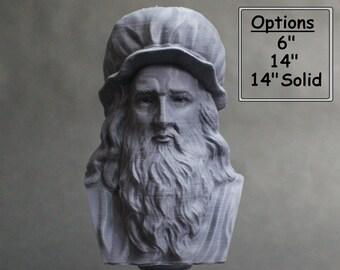 Leonardo da Vinci Italian Polymath, inventor, painter, and Renaissance man 3D Printed Bust