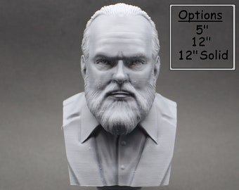 Orson Welles American Actor, Director, Writer, and Producer 3D Printed Bust