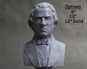 Andrew Johnson USA President #17 5 inch 3D Printed Bust