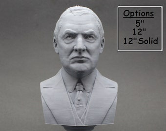 Warren G. Harding USA President #29 5 inch 3D Printed Bust