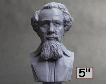 Charles Dickens English Writer and Social Critic 5 inch 3D Printed Bust