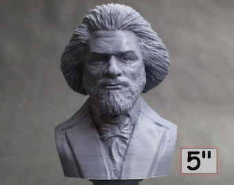 Frederick Douglass American Social Reformer, Abolitionist, Orator, Writer, and Statesman 5 inch 3D Printed Bust