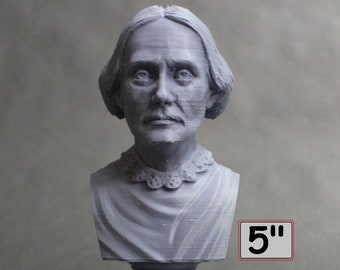 Susan B. Anthony American Social Reformer and Women's Rights Activist 5 inch 3D Printed Bust