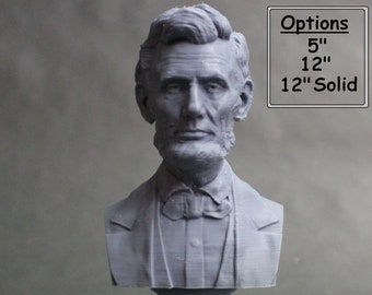 Abraham Lincoln USA President #16 5 inch 3D Printed Bust