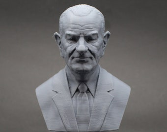 Lyndon B. Johnson LBJ USA President #36 5 inch 3D Printed Bust