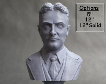 F. Scott Fitzgerald, Famous American Writer 3D Printed Bust