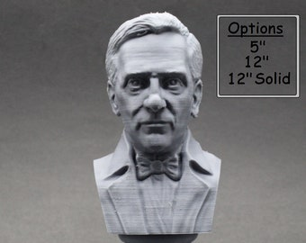 Alexander Fleming Famous Scottish Biologist, Physician, and Pharmacologist 3D Printed Bust