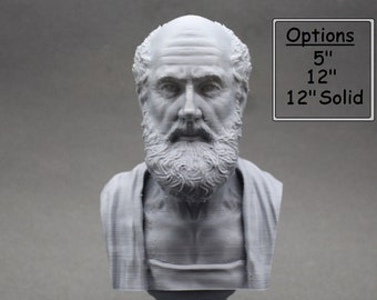 Hippocrates of Kos Greek Physician Father of Medicine 3D Printed Bust