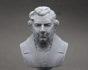 Georg Ohm Famous German Physicist and Mathematician 5 inch 3D Printed Bust