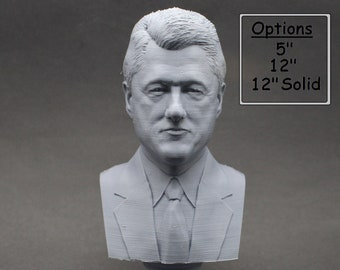 Bill Clinton USA President #42 5 inch 3D Printed Bust