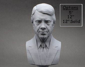 Jimmy Carter USA President #39 5 inch 3D Printed Bust