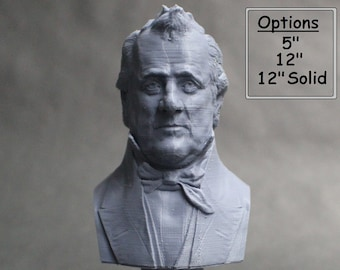 James Buchanan USA President #15 5 inch 3D Printed Bust