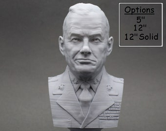"Lewis Burwell ""Chesty"" Puller Legendary US Marine Corps General USMC 3D Printed Bust"