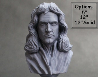 Sir Isaac Newton Famous English Mathematician, Physicist and Astronomer 3D Printed Bust