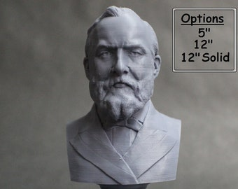 James A. Garfield USA President #20 5 inch 3D Printed Bust