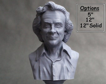 Richard Feynman Famous American Physicist and Mathematician 3D Printed Bust