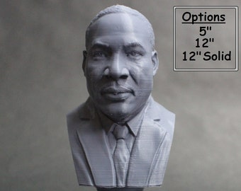 Martin Luther King Jr, Activist and Reform leader, 3D Printed Bust