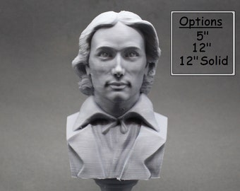 John Keats English Romantic Poet 3D Printed Bust