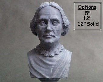 Susan B. Anthony American Social Reformer and Women's Rights Activist 3D Printed Bust