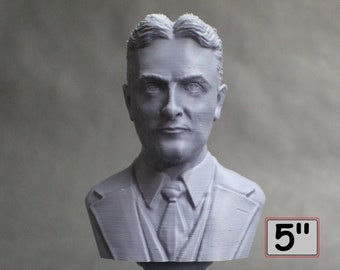 F. Scott Fitzgerald, Famous American Writer 5 inch 3D Printed Bust