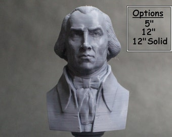 James Madison USA President #4 5 inch 3D Printed Bust