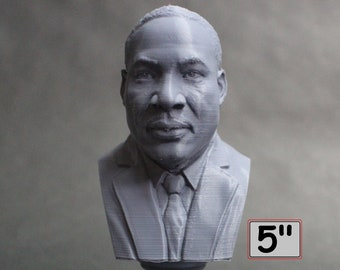 Martin Luther King Jr, Activist and Reform leader, 5 inch 3D Printed Bust