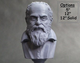 Galileo Galilei, Italian Polymath, Astronomer, Physicist, and Engineer 3D Printed Bust