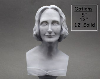 Mary Shelley, English Novelist 3D Printed Bust