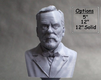 Louis Pasteur French Biologist, Microbiologist, and Chemist 3D Printed Bust