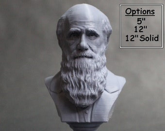 Charles Darwin Famous English Naturalist, Geologist, and Biologist 3D Printed Bust