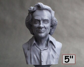 Richard Feynman Famous American Physicist and Mathematician 5 inch 3D Printed Bust