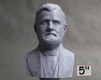 Ulysses S. Grant USA President #18 5 inch 3D Printed Bust