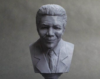 Nelson Mandela South African Anti-Apartheid Revolutionary 5 inch 3D Printed Bust