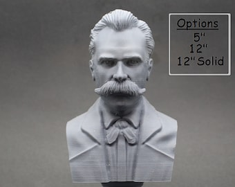 Friedrich Nietzsche German Philosopher, Cultural Critic, Composer, and Poet 3D Printed Bust