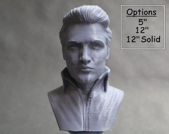 Elvis Presley King of Rock 3D Printed Bust