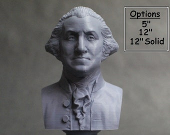 George Washington USA President #1 5 inch 3D Printed Bust