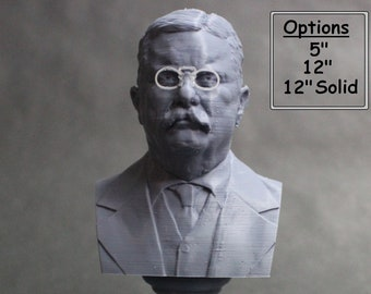 "Theodore ""Teddy"" Roosevelt USA President #26 5 inch 3D Printed Bust"