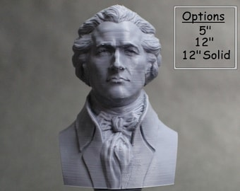 Alexander Hamilton Founding Father 3D Printed Bust