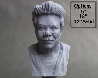 Maya Angelou American Poet, Singer, Memoirist, and Civil Rights Activist Activist 3D Printed Bust
